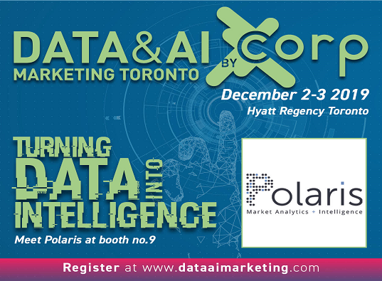 Data & AI Marketing flyer showing the location of Polaris in the conference
