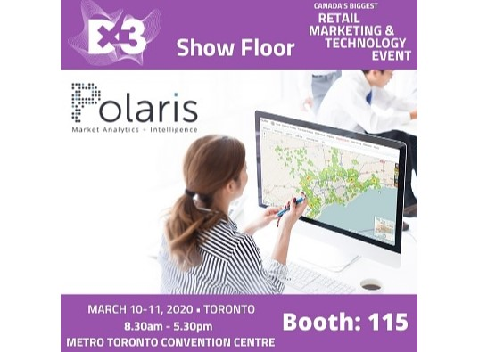 Polaris intelligence location at the the retail, marketing & technology event