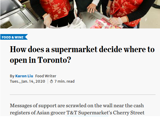Toronto Star article header on how does a supermarket decide where to open in Toronto