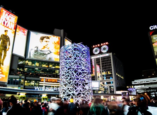 Impressions received by outdoor advertising at Yonge and Dundas