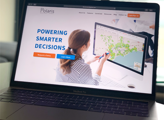 Business professional using insights from the heat map that Polaris can create