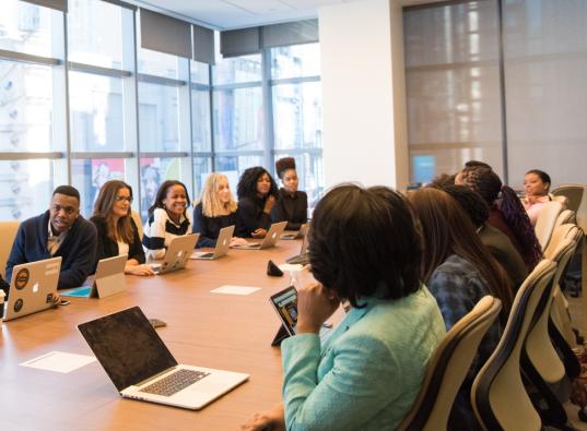 Media agency meeting board room