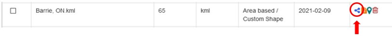 Sharing trade area files, e.g. SHP KML, and regular files