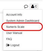 Numeris scale (from Numeris RTS, consumer behaviour survey)
