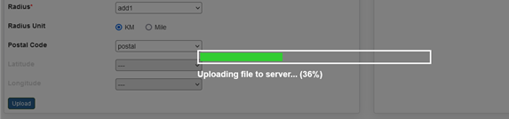 Progress bar for uploads